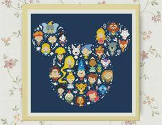Bogo Free ,Disney-miki cross stitch pattern , PDF counted cross stitch pattern , Counted Cross Stitch Pattern, S095 by LittleCrossStitch on Etsy