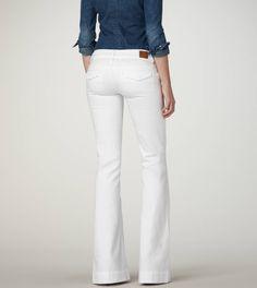 white trouser jeans