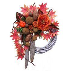 Őszi kopogtató vesszőalapon Christmas Wreaths, Holiday Decor, Home Decor, Decoration Home, Room Decor, Home Interior Design, Home Decoration, Interior Design