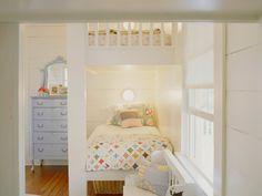 kids room decor, twin beds, bedroom decor, children's bedroom, white bunk beds, small bedrooms