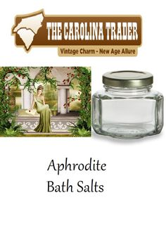 Aphrodite Bath Salts - 3.75 oz Jar - $5.00 - Show your beauty and love with the sensual smell of a garden and a hint of spice.