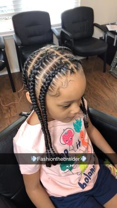 Toddler Braided Hairstyles, Little Girl Braid Hairstyles, Black Kids Hairstyles, Natural Hairstyles For Kids, Baby Girl Hairstyles, Protective Hairstyles, Toddler Braid Styles, Toddler Braids, Braids For Kids