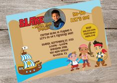 Jake and the Neverland Pirates Party by partyflairdesigns on Etsy, $12.00