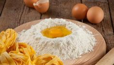Add water to this and you have great pasta. 1 egg and you have a light dough, for Lasgna strips. The more eggs you add the firmer the dough , as for our Ravoli. Nothing like homemade macaroni. Pasta Sauce Recipes, Italian Table, Grated Cheese, Tortellini, Main Dishes, Rolls, Stuffed Peppers, Healthy Recipes, Homemade