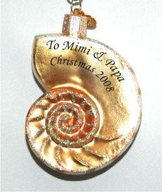 Nautilus Shell Beach n' Sea - Personalized Girl Ornament or Boy Ornament