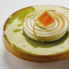 Tarte au citron vert au basilic
