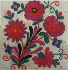 Romanian embroidery by gilliantravis, via Flickr