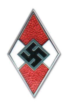 Hitlerjugend (HJ) crest pin.