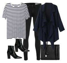 """""""Untitled #3632"""" by amyn99 ❤ liked on Polyvore featuring Yves Saint Laurent, rag & bone and T By Alexander Wang"""