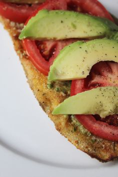 """Milk Free Mom - Healthy Dairy Free Recipes & Products » Eggplant """"Sandwiches"""" with Avocado & Tomato"""