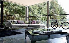 canapé design sofa fauteuil roche bobois divan salon contemporain tapis de sol roche bobois luxe mobilier design