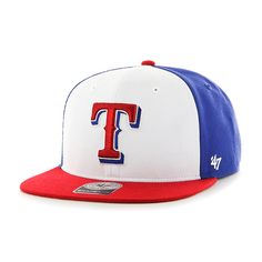 buy popular 1cc0f a7922 Texas Rangers Amble Captain Red 47 Brand Adjustable Hat