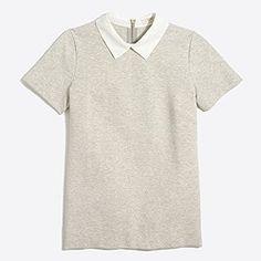 Woven-collar top