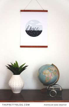 Oh The Places You'll Go Wall Art - The Pretty Blog