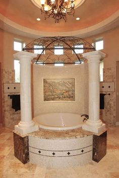 Elegant Bathrooms In The Texas Hill Country By Stadler Custom Homes Mediterranean Bathroom