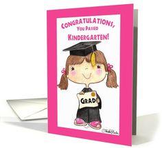Little Kindergarten Graduate Girl card