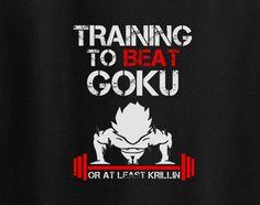 Dragon Ball Dragonball Z Training to beat Goku or least Krillin T-Shirt