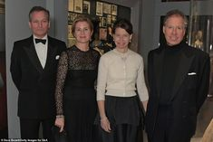 Joining Lady Chatto and Daniel Chatto at the gala dinner celebrations were Serena Armstrong-Jones, Countess of Snowdon pictured second from left) and David Armstrong-Jones, Earl of Snowdon (far right)