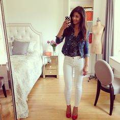 Mimi Ikonn | Summer outfit, cute outfit, jean jacket and skirt ...