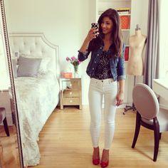 Mimi Ikonn | White denim white jeans