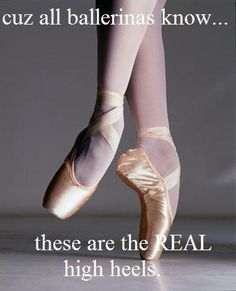 The only dancer you should compare yourself to is the one you used to be.
