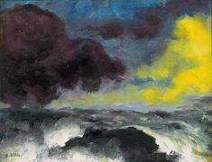 Emil Nolde 1948 Bewegtes Meer
