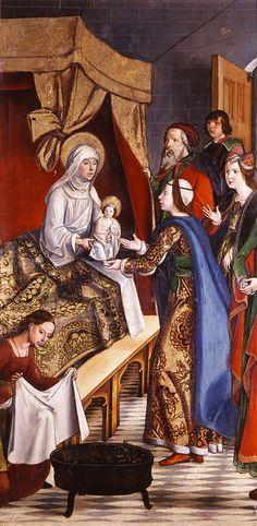 Pedro Berruguete, Nativity, altarpiece of the Saint Eulalia Church, Paredes de Nava, Palencia, 1500
