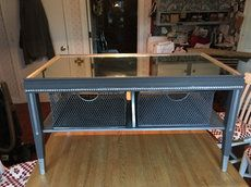 Grey/silver coffee table w/ mirrored top in Amherst - letgo