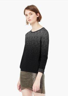Baumwollpullover mit farbverlauf -  Damen | MANGO