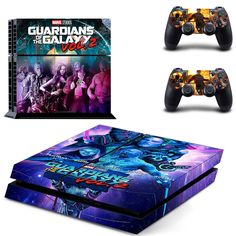 Guardians of the Galaxy ps4 skin decal for console and 2 controllers