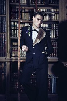 Douglas Booth fashion: Jacket