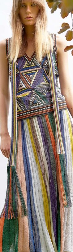 ac0aea0f83 Missoni Mare, Crochet Ripple, Rainbow Fashion, Patchwork Dress, Knit  Fashion, Boho