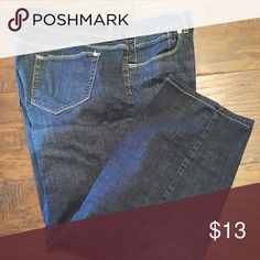 Chicos Platinum denim Size 3 (16) plain pocket inseam 25,roll them up as capris for summer,super comfortable,ask about the bundle discount chicos Jeans Boot Cut