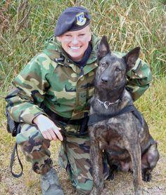SrA Rachel Sarcia, A military working dog handler at Kunsan AB Korea.