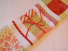Peppermint Candy Table Topper Cottage Chic by SheissewcrazyToo, $28.50