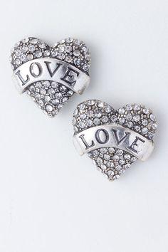 Rebel Love Crystal Studded Earrings