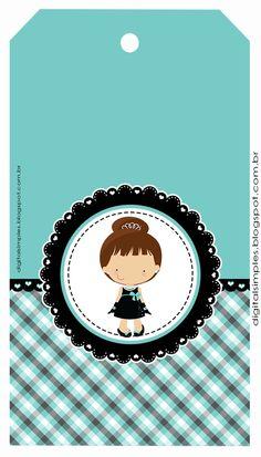 kit Digital free para imprimir, tema bonequinha de luxo, na cor Tifanny para festa de aniversário.
