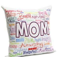 Moms World				Tell your mom she means the world to you by gifting her this 12x12 inches colorful soft cushion. The specially digitally printed designed cushion features all the attributes which makes your mother a super mom. http://www.giftsbymeeta.com/moms-world-gifts1793?search=gifts1793