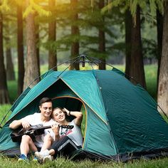 Instant Pop Up Camping Tent Family 2-4 Person Auto Tent Waterproof – Reactive Outdoor Pickup Camping, Pop Up Camping Tent, Best Tents For Camping, Backyard Camping, Cool Tents, Camping Items, Camping Stuff, Family Camping, Outdoor Camping