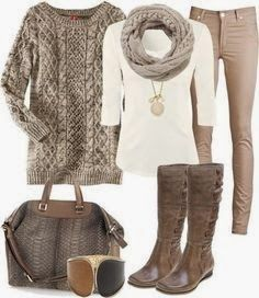 Autumn Outfit LUV it but I wouldn't carry the purse