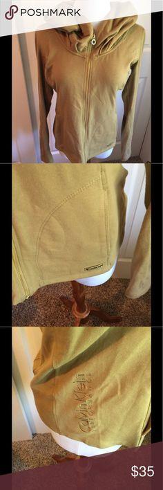 Calvin Klein zip Hoodie Jacket M Full face zip hoodie olive green size M Performance jacket gold hardware Calvin Klein Jackets & Coats