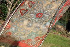 Sheer Paisley Scarf Red and Brown by ElayneInspired on Etsy, $20.00