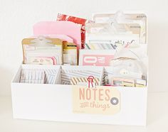 organizing supplies with CP Notes and Things