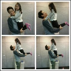 They are just having too much fun! Such a cute little girl and she has worked hard in this drama!