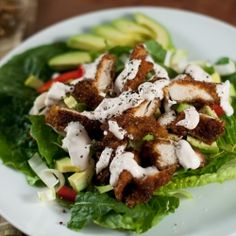 Crispy Chicken Strips your kids will love AND you will love in this fresh salad