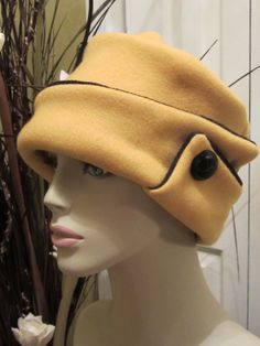 Mustard / Black Blizzard Solid Womens Hat by ChicReflections, $24.99
