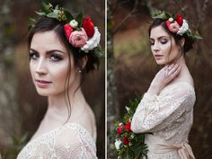 Gorgeous shot from Jessica Whitaker.  #bohemian #winter #bridal #photography