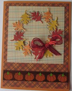 Hi Everyone!   I've been working on some fall themed cards that can be used for Thanksgiving or really any occasion. For the time being I'v...