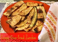 These crispy, oven-fried zucchini and squash are lightly breaded and baked to perfection, without all the artery-clogging grease!