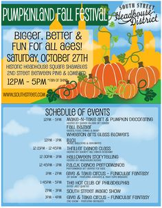 4th Annual Pumpkinland Fall Festival. Sat, October 27, 2012. #SEPTA Routes: 12, 40, 57